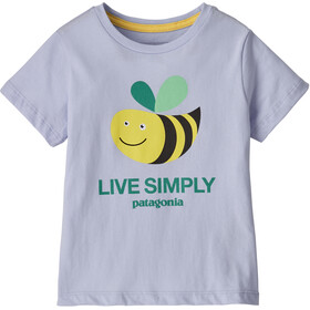 Patagonia Live Simply Organic Camiseta Niños, azul/amarillo